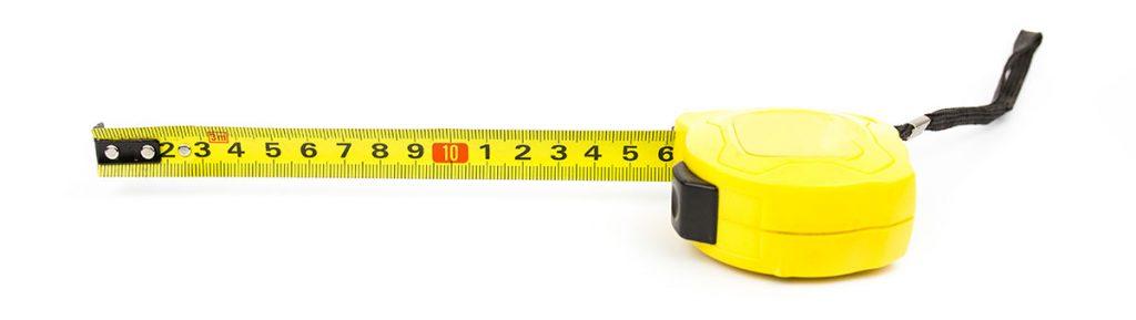 tape measure for skip sizes